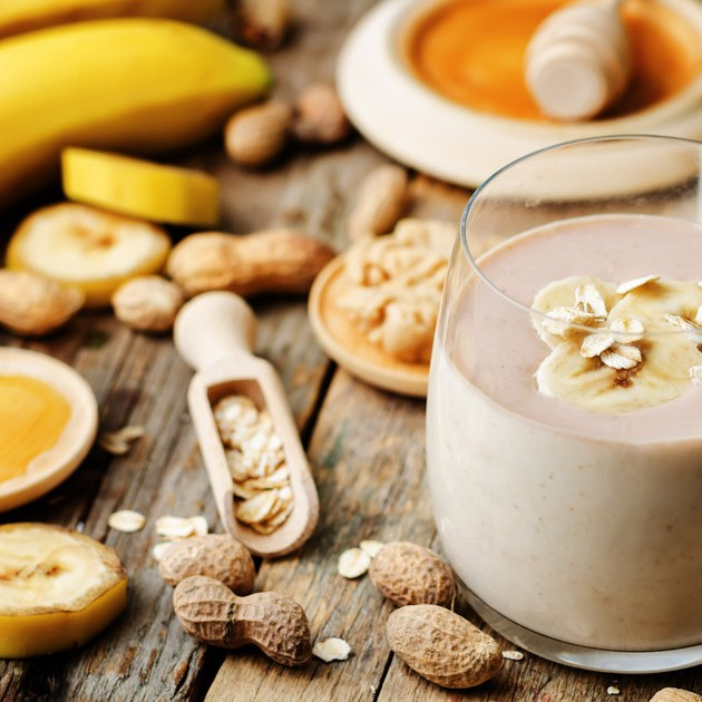 Almased banana peanut butter smoothie