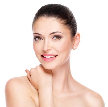 woman with glowing healthy skin