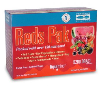 Reds Pak powder from Trace Minerals Research