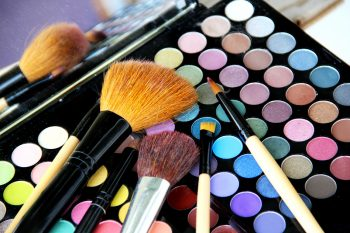 Toxic Makeup palette and brushes